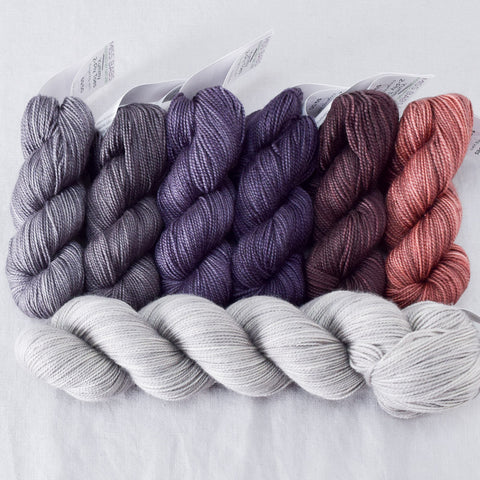 Grand Bazaar Gradient Set and Fleur de Sel Yummy 2-Ply - Shawl Set