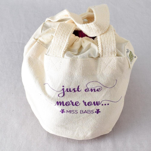 Just One More Row Bag - Miss Babs Project Bag
