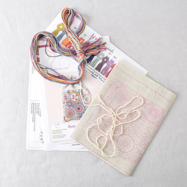 Mandala Pouch (pochon) Embroidery Kit - Miss Babs Notions
