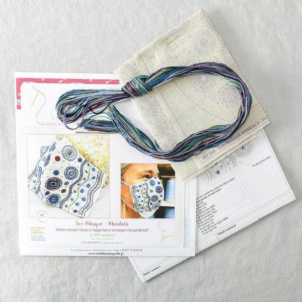 Mask Embroidery Kit - Mandala - Miss Babs Notions