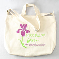 Miss Babs Fan Canvas Tote