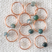 Moss Agate Stitch Markers
