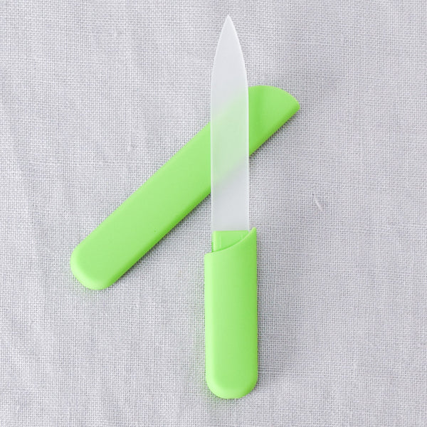Glass Nail File in Case - Green