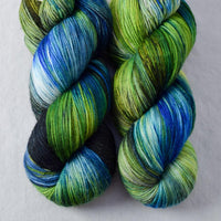 Night Lights with red spots - Miss Babs Yowza yarn - Destash Clearance