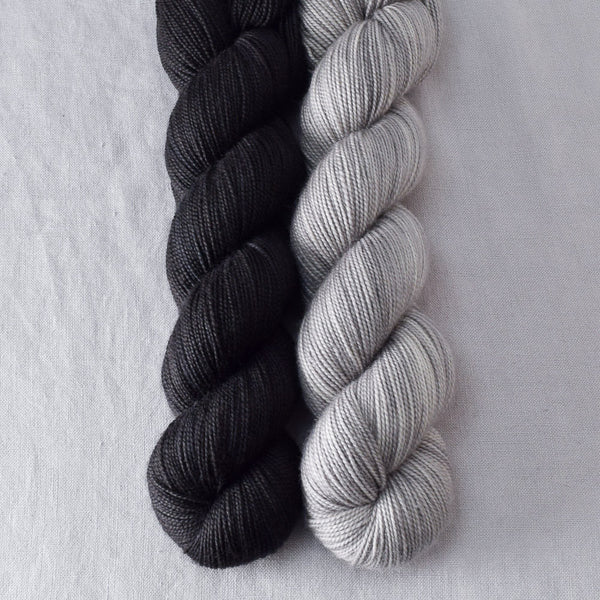 Obsidian, Oyster - Miss Babs 2-Ply Duo