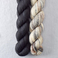 Obsidian, Rock Sparrow - Miss Babs 2-Ply Duo