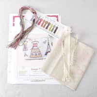 Parisian Pouch (trousse Paris) Embroidery Kit - Miss Babs Notions