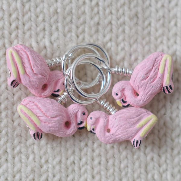 Pink Flamingo Stitch Markers - Miss Babs Stitch Markers
