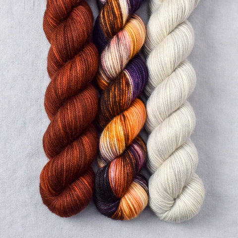 Rainbow Jasper, Russet, gw-6, White Peppercorn - Miss Babs Yowza Mini Trio