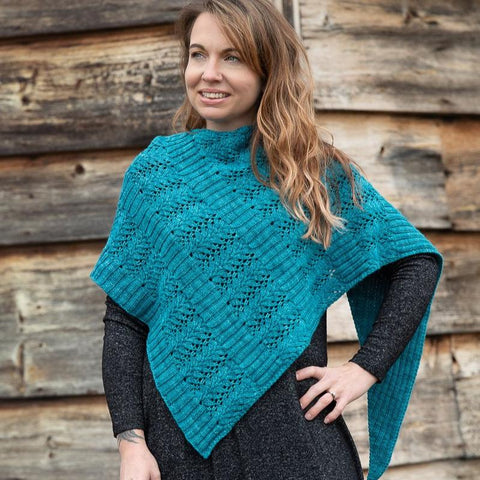 Rib and Lace Shawl