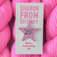 Sharon from Security Enamel Pin - Miss Babs Notions