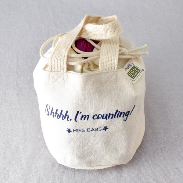Shhhh, I'm Counting Bag - Miss Babs Project Bag