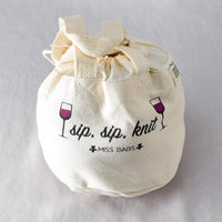 Miss Babs Sip Sip Knit Project Bag