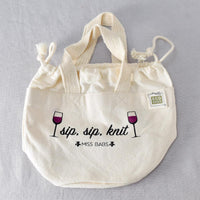 Sip Sip Knit Project Bag