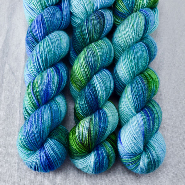 Smurf and Turf - Miss Babs Yummy 2-Ply yarn