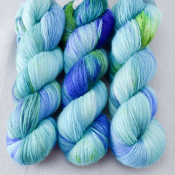Smurf and Turf - Miss Babs Northumbria Fingering Yarn
