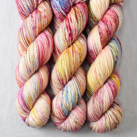 Spring Flowers Yellow - Miss Babs Yummy 3-Ply yarn