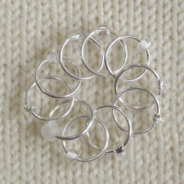 Babs' Favorite Stitch Markers - Clear