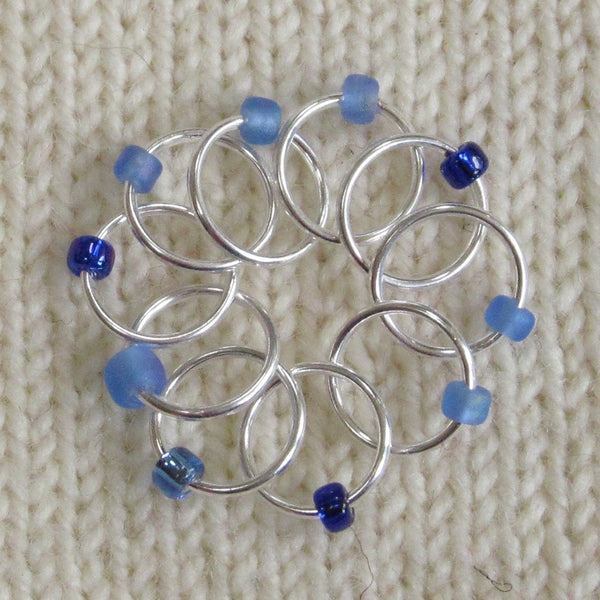 Babs' Favorite Stitch Markers - Dark Blue