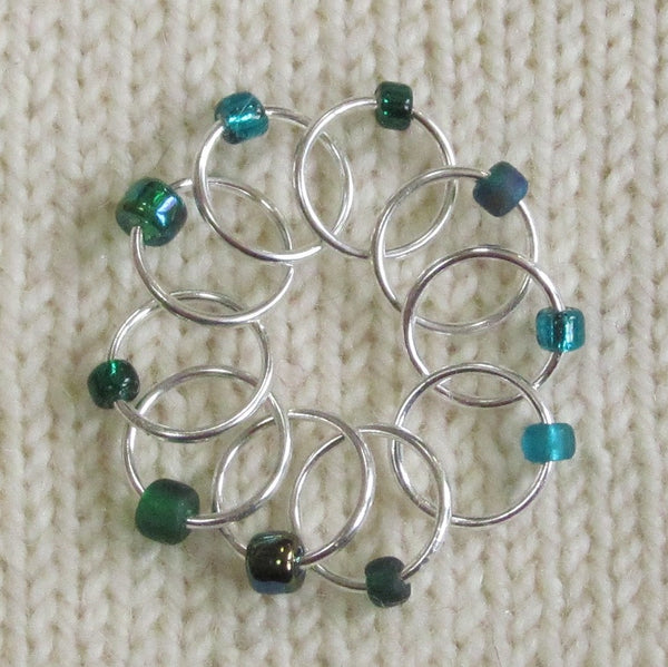 Babs' Favorite Stitch Markers - Dark Green
