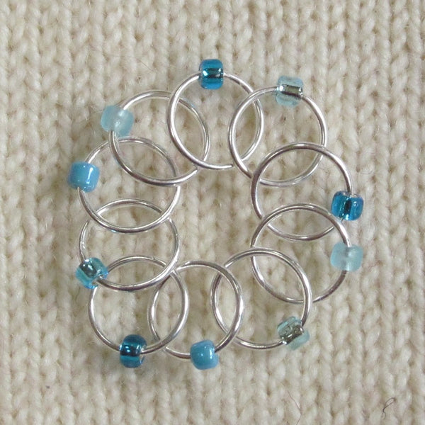 Babs' Favorite Stitch Markers - Light Blue