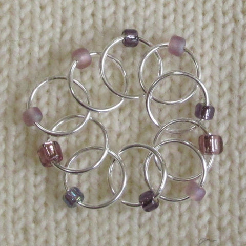 Babs' Favorite Stitch Markers - Purple