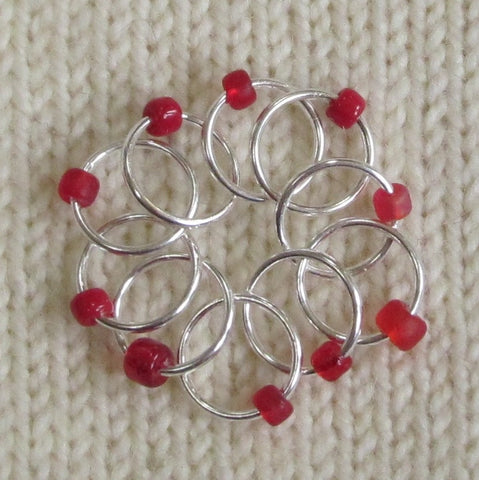 Babs' Favorite Stitch Markers - Red