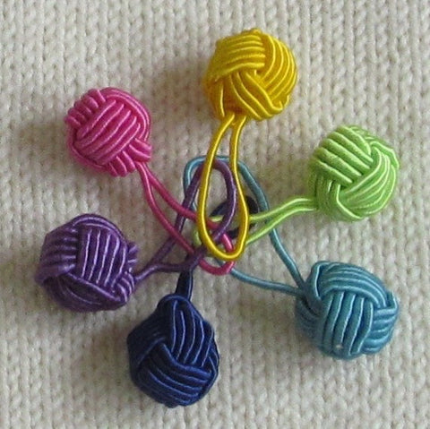 HiyaHiya Yarn Ball Stitch Markers - Multicolored
