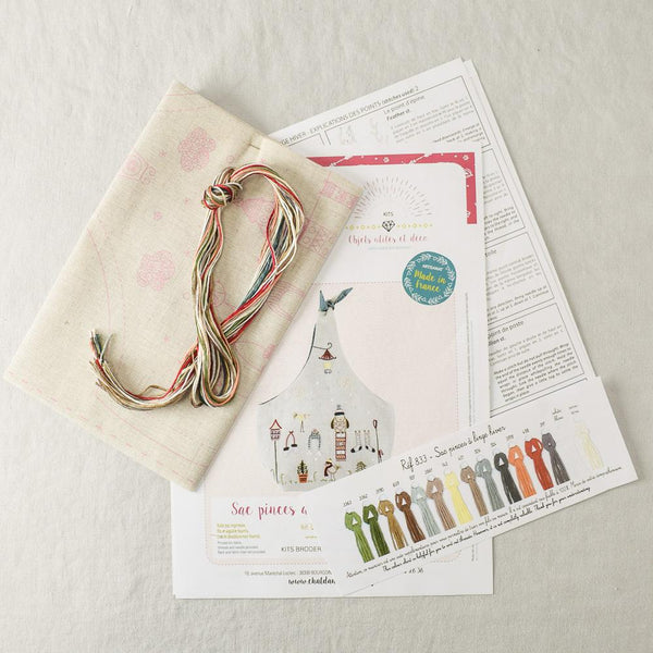 Tie Top Emroidery Kit Winter - Miss Babs Notions