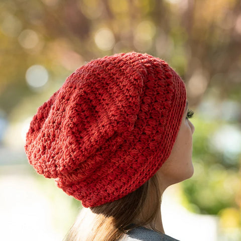 Triangle Puff Hat