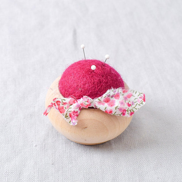 Turned Wood Pin Cushion Pink - Miss Babs Notions