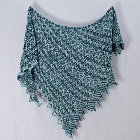 Ves Shawl knit in Miss Babs Yummy 2-Ply