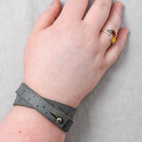 Leather Wrist Ruler - Gray