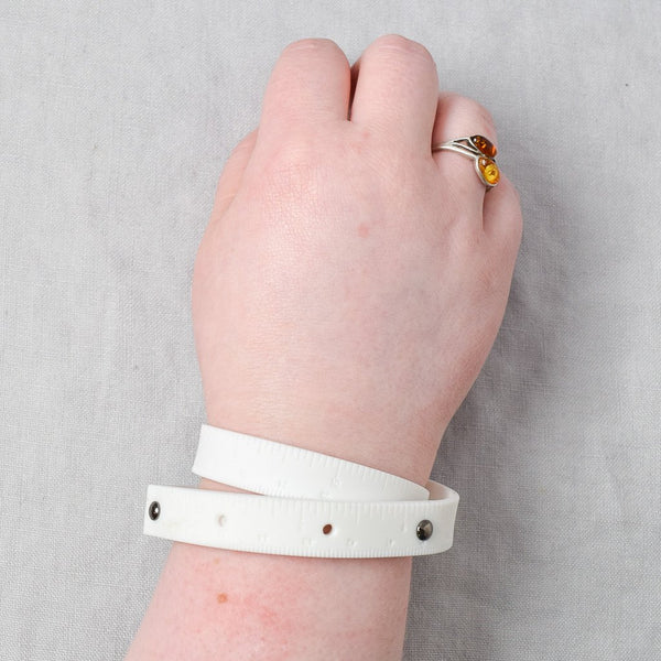 Rubber Wrist Ruler - White