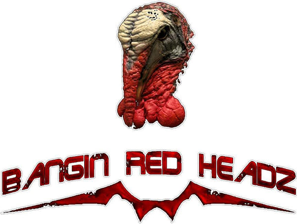 Turkey Bagin Red Headz Decal