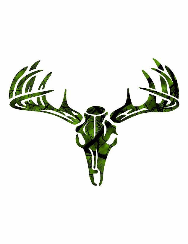Missouri Archewry Crosstimbers Green Deer Decal