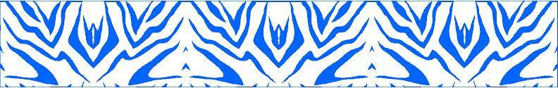 Arrow Wraps Zebra Blue/White 12+2 Free