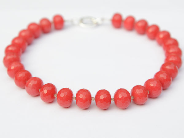 Lilly Necklace - Tomato Jade