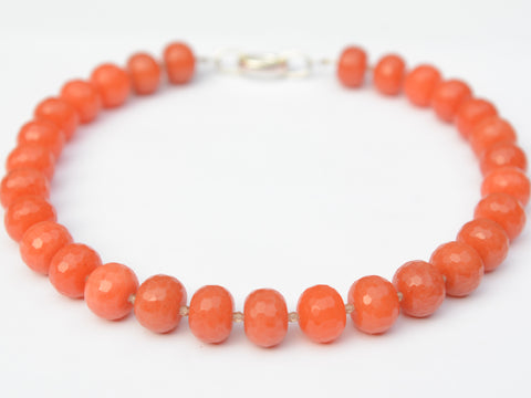 Lilly Necklace - Multi Tomato Orange Jade