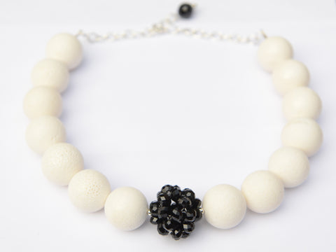 White Coral Bauble Necklace