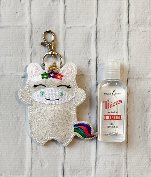 Full Body Unicorn Thieves Hand Sanitizer Keychain Case