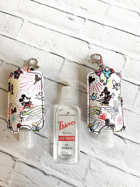 Magical Mouse Sketch Kingdom Young Living Thieves Hand Purifier Keychain