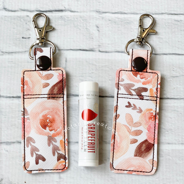 Sunset Floral Young Living Essential Oils Lip Balm Keychain Case