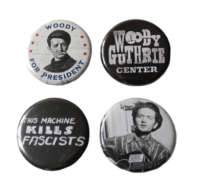 Woody Guthrie Button Bundle