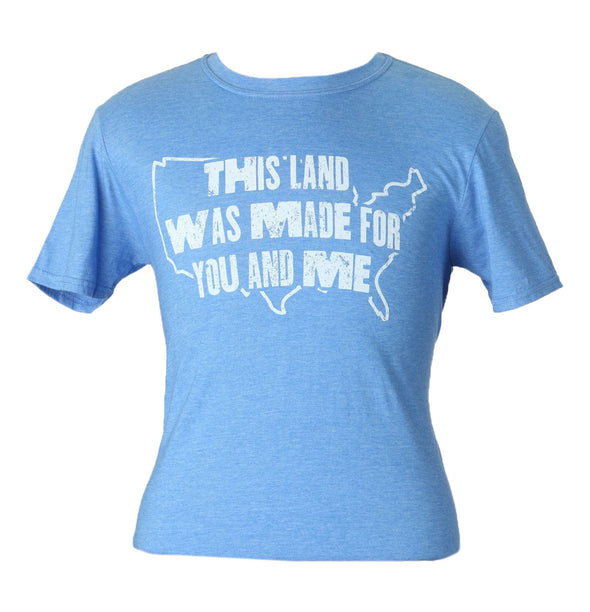 "Woody Guthrie ""This Land"" Shirt - Blue"