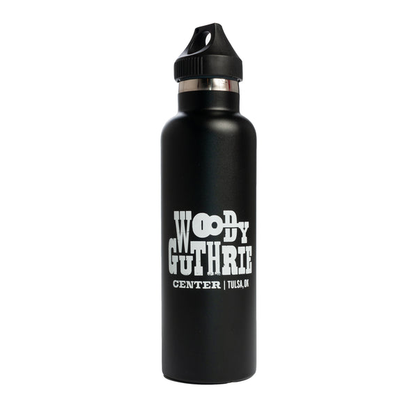 Woody Guthrie Center Logo Water Bottle