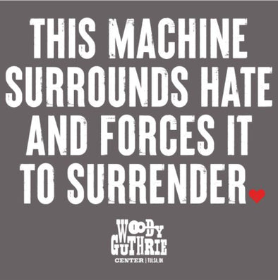 Surrounds Hate Grey Sticker