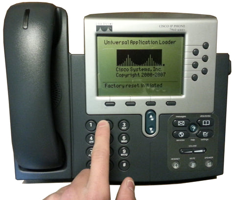 How To Easily Reset a Cisco 7960G Phone to Factory Default