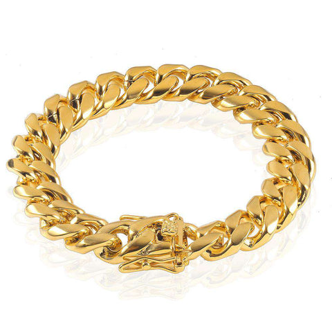 10mm 18K Gold Finish Miami Cuban Bracelet