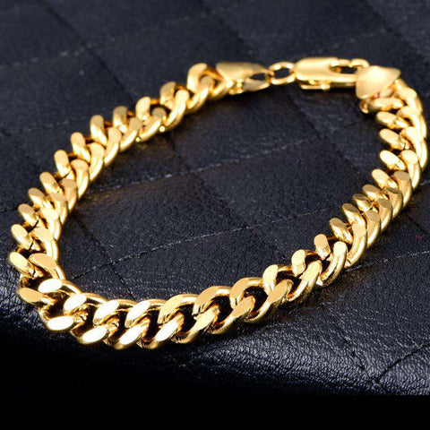 5mm 18K Gold Finish Miami Cuban Bracelet